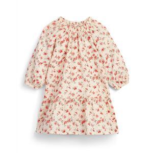 Gesmoktes Kleid in Rosa mit Blumenmuster (kleine Mädchen)