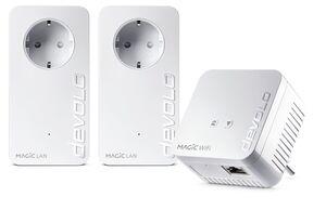 DEVOLO Netzwerk-Adapter »(1200Mbit,Powerline+WLAN ac,Mesh WIFI,3 Adapter)«, Magic 1 WiFi Multimedia Power Kit