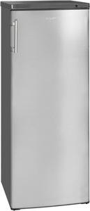 exquisit Gefrierschrank »GS235-H-040E inoxlook«, 142 cm hoch, 58 cm breit