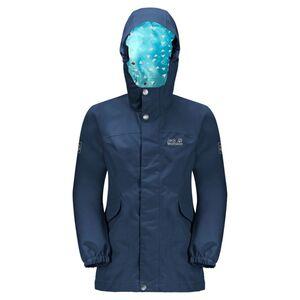 Jack Wolfskin Rock Town Jacket Girls Hardshell Mädchen 92 blau dark indigo