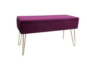ECHTWERK Sitzbank-/Truhe »Scarlett« mit Samtbezug und weicher, bequemer Sitzfläche, belastbar bis 150 kg