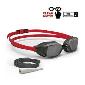 Schwimmbrille 900 B-Fast Clean&Swim rot/schwarz