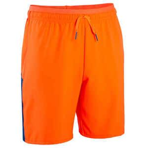 Fußballshorts F520 Kinder blau/orange