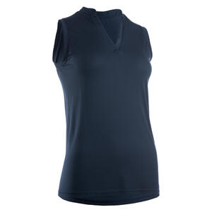 Golf Poloshirt ärmellos WW900 Damen marineblau