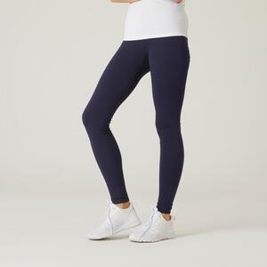 Leggings Fit+ aus Baumwolle Fitness Damen marineblau