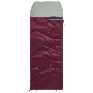 Schlafsack MH100 10°C Kinder dunkelrot