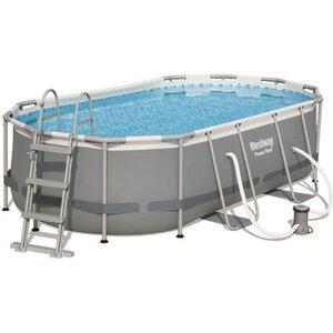 Bestway Stahlrahmen-Pool Power Steel 424 x 250 x 100 cm Oval