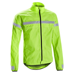 Fahrrad Regenjacke Herren RC120 wasserdicht sichtbar gem. EN1150