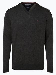 Tommy Hilfiger Herren Pullover mit Seiden-Anteil grau Gr. XL