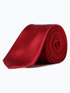 Finshley & Harding London Herren Seidenkrawatte mit Krawattenklammer rot Gr. ONE SIZE
