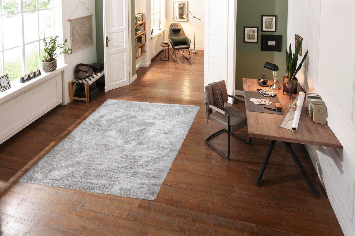 Bild 4 von Hochflor-Teppich »Boldo«, my home, rechteckig, Höhe 50 mm, besonders weich durch Microfaser, Wohnzimmer