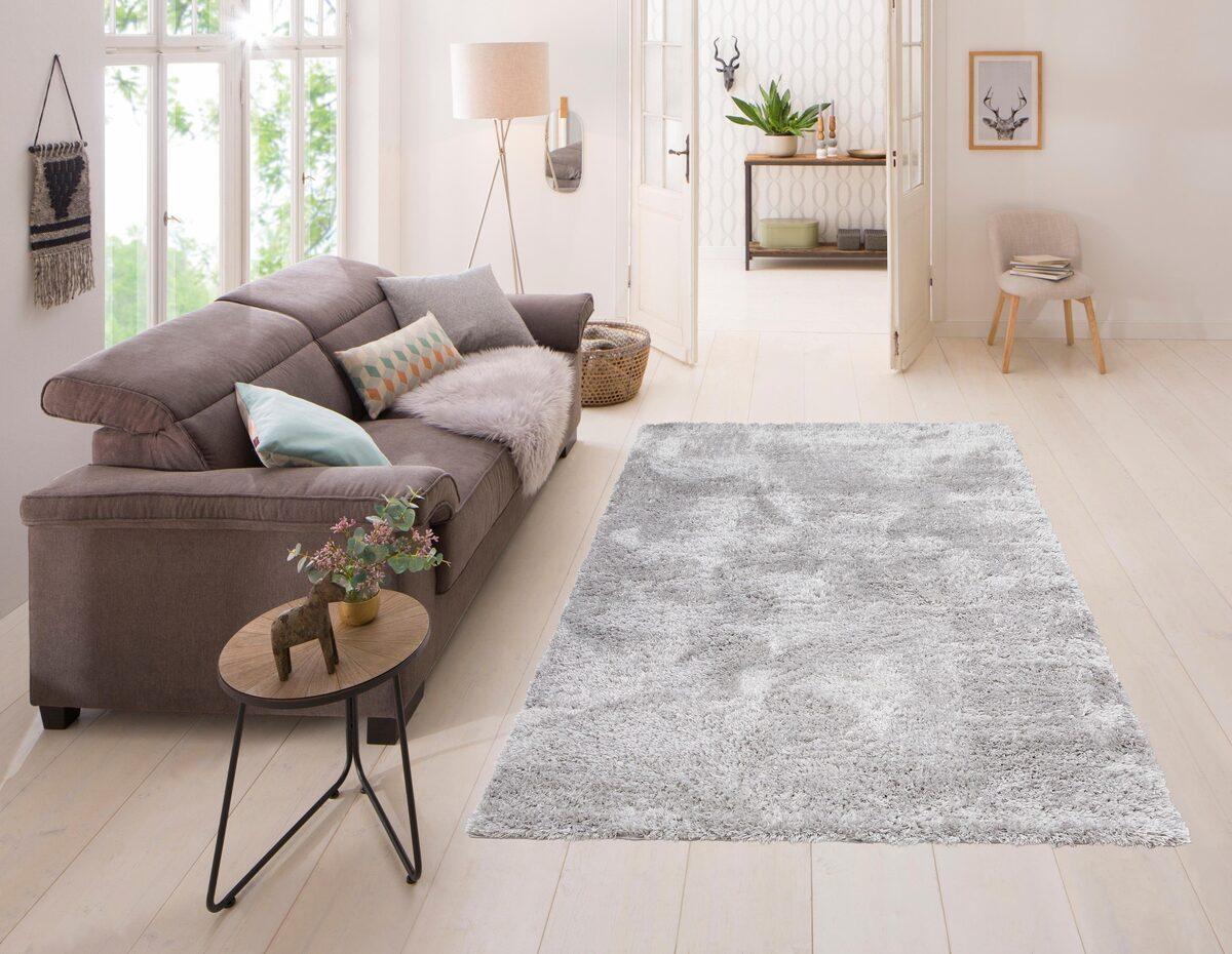 Bild 5 von Hochflor-Teppich »Boldo«, my home, rechteckig, Höhe 50 mm, besonders weich durch Microfaser, Wohnzimmer