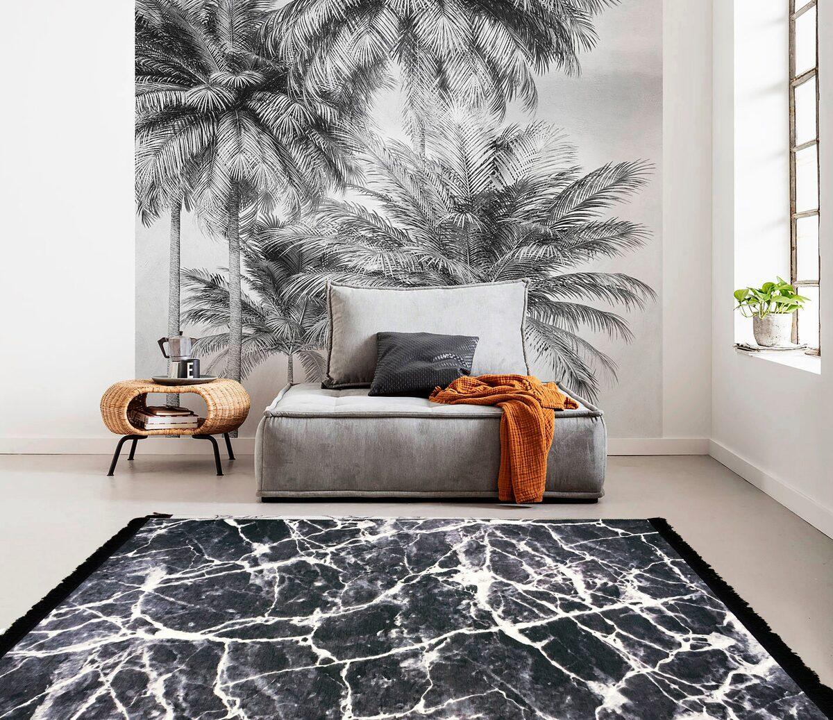 Bild 4 von Teppich »Noah«, Guido Maria Kretschmer Home&Living, rechteckig, Höhe 5 mm, mit Fransen, Wohnzimmer