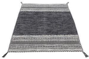 Teppich »Kelim Azizi«, carpetfine, rechteckig, Höhe 5 mm, Baumwolle, Wendeteppich mit Fransen, Wohnzimmer