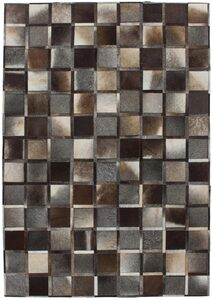 Lederteppich »Lavish 410«, Kayoom, rechteckig, Höhe 8 mm, Patchwork-echtes Leder-Fell, Wohnzimmer