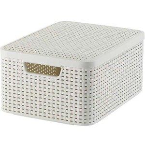 Best Freizeitmöbel Aufbewahrungsboxen Curver Style 3-er Set Creme M mit Deckel