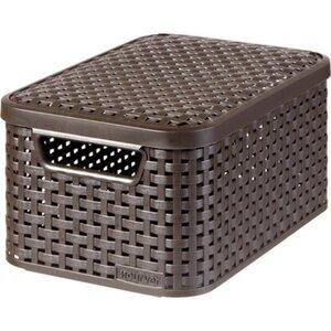 Best Freizeitmöbel Aufbewahrungsboxen Curver Style 3-er Set Dunkelbraun S