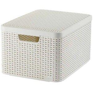 Best Freizeitmöbel Aufbewahrungsboxen Curver Style 3-er Set Creme L mit Deckel