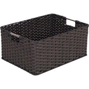 Regalbox aus Kunststoffgeflecht Grau