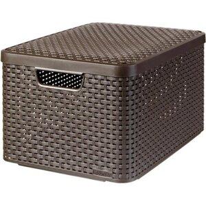 Best Freizeitmöbel Aufbewahrungsboxen Curver Style 3-er Set Dunkelbraun L