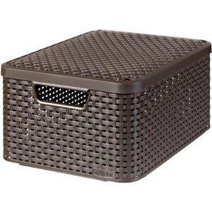 Best Freizeitmöbel Aufbewahrungsboxen Curver Style 3-er Set Dunkelbraun M