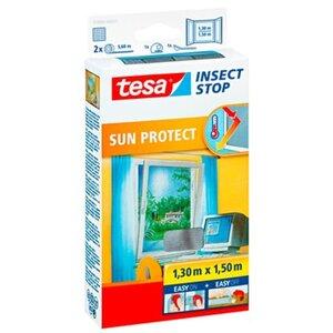 Tesa Fliegengitter Fenster mit Sonnenschutz 150 cm x 130 cm
