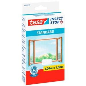 Tesa Insect Stop Fliegengitter Standard mit Klettband 100 cm x 100 cm Weiß