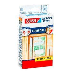 Tesa Fliegengitter Tür mit Klettband Comfort Weiß 250 cm x 120 cm