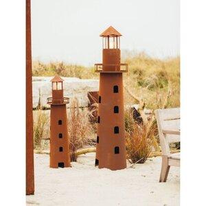 Ferrum Art Design Deko-Skulptur Leuchtturm Norddeutschland 116 cm Edelrost