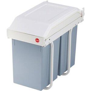 Hailo Multi-Box Duo L inkl. Auffangschale für Küchenabfälle 2 x 14 l
