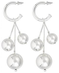 Creolen - Silver Pearls