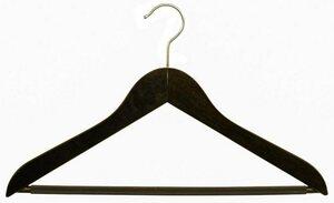 MAWA Kleiderbügel »Business 45/RFS«, (Set, 10-tlg), nussbaumfarben gebeizt