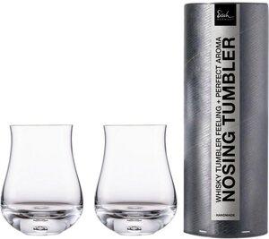 Eisch Whiskyglas »Gentleman«, Kristallglas, (Nosing-Glas) handgefertigt, bleifrei, 350 ml, 2-teilig