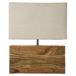 Kare-Design Tischleuchte  Rectangular Wood Nature  Beige
