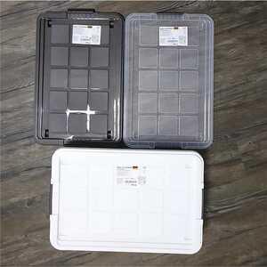 Aufbewahrungsbox mit Deckel und Rollen, ca. 28 Liter, ca. 59,5 x 39,5 x 17 cm