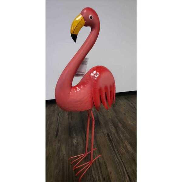 Flamingo aus Metall, ca. 32,2 x 16,3 x 82 cm