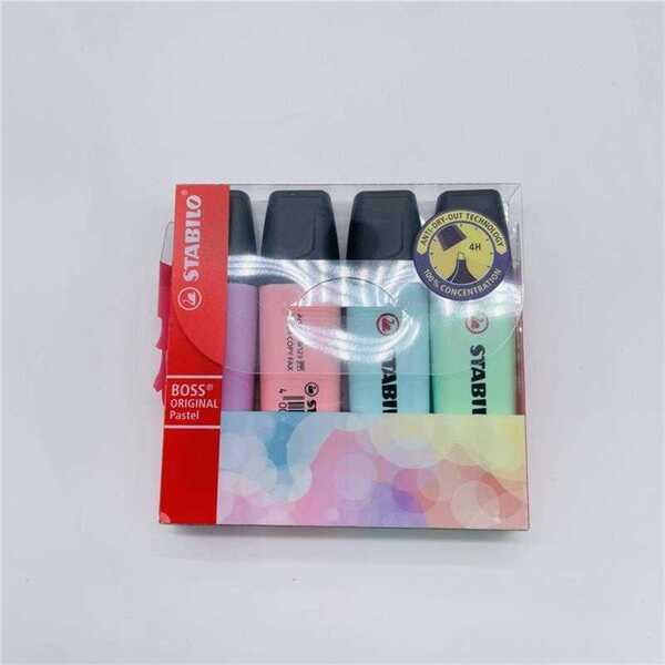 "Stabilo ""BOSS"" Textmarker Pastell, 4 Farben"