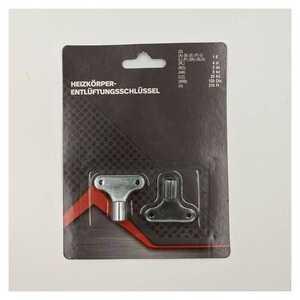 2 Stück Heizungsentlüfter/Entlüftungsschlüssel, Metall