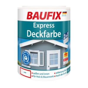 Baufix Express Deckfarbe weiß, 1 l