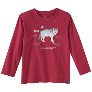 Kinder Langarmshirt mit Wolf-Print