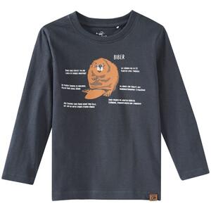 Kinder Langarmshirt mit Biber-Print