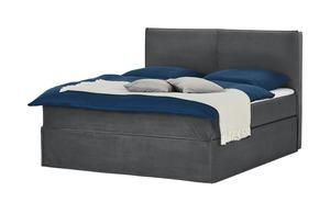Boxi Boxspringbett 180 x 200 cm - grau - 180 cm - 125 cm - Betten