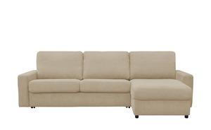 Ecksofa - beige - 276 cm - 90 cm - 160 cm - Polstermöbel