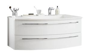 Waschtischkombination - weiß - 121 cm - 48 cm - Schränke