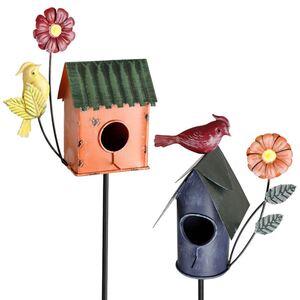 Deko-Vogelhäuschen mit Gartenstecker