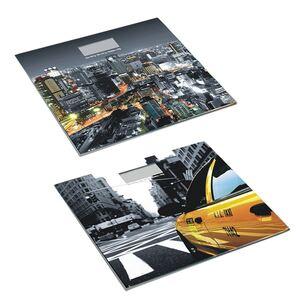 Digitale Glas-Personenwaage City-Style 30x1,5x25cm