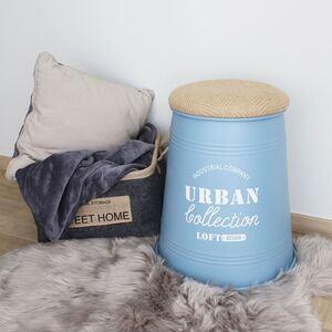 Metall-Sitztonne Urban Collection rund 39,5x48cm Blau