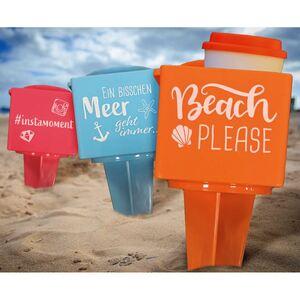 Strand-Becherhalter mit Handyfach