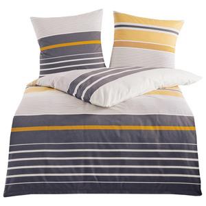 Dreamtex Edel-Renforce-Bettwäsche, ca. 200 x 200 cm - Stripes Honig