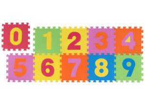 Schaumstoff-Puzzle, bestehend aus 10 je ca. 30 x 30 cm großen Puzzlestücken